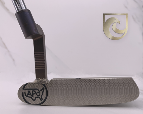 American Putter Company Oak Dale Left Hand Atomic Bronze Stainless Putter with Weld Neck (COA 357)