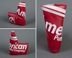 American Putter Company Royal Headcover : White Stitch on Red Base