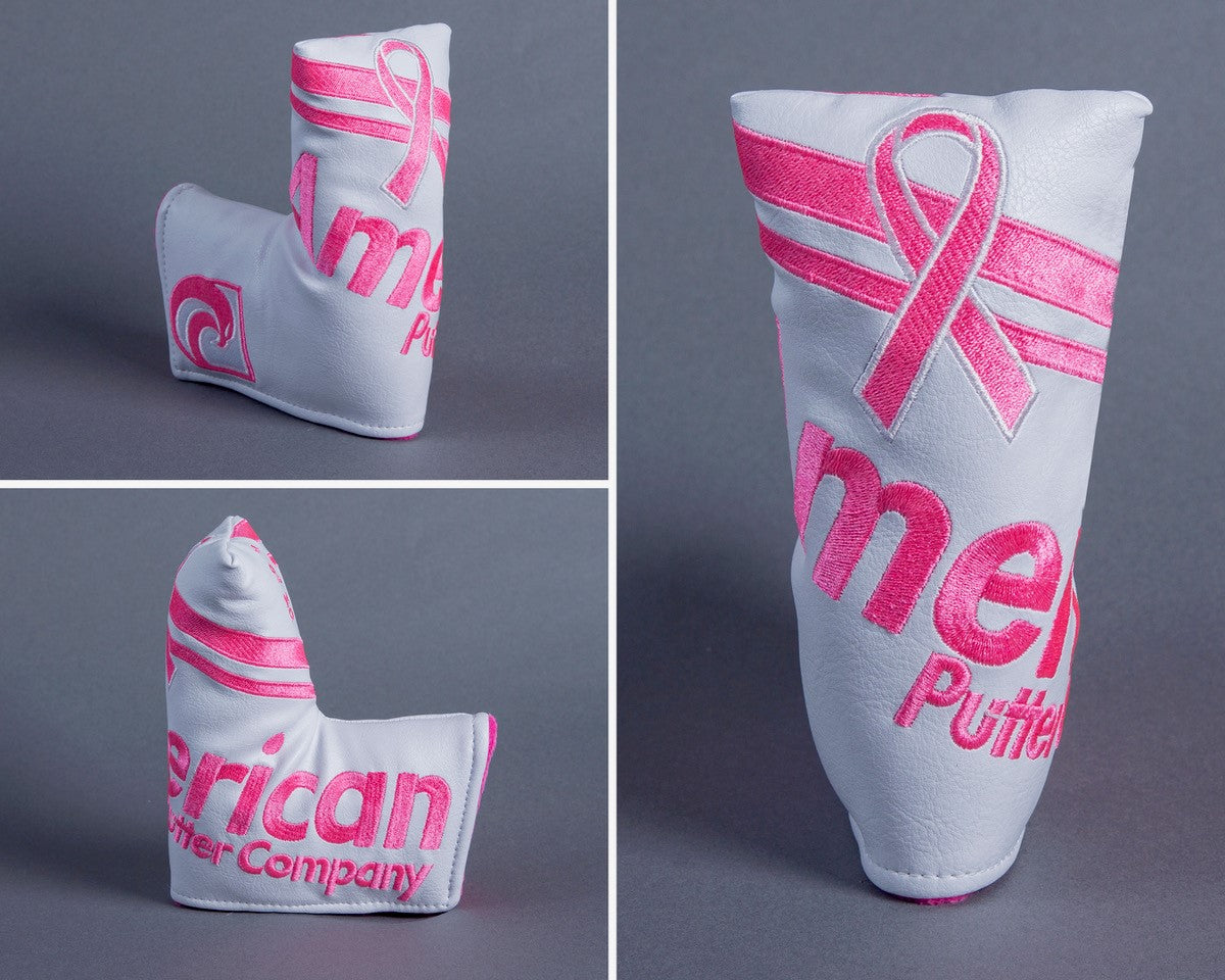 American Putter Company 2018 Breast Cancer Awareness Headcover: Royal Style with White with Pink