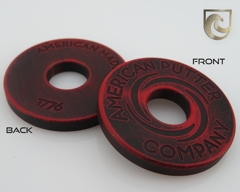 American Putter Company Battle Worn Red & Black Halo Vortex Ball Marker Stainless!
