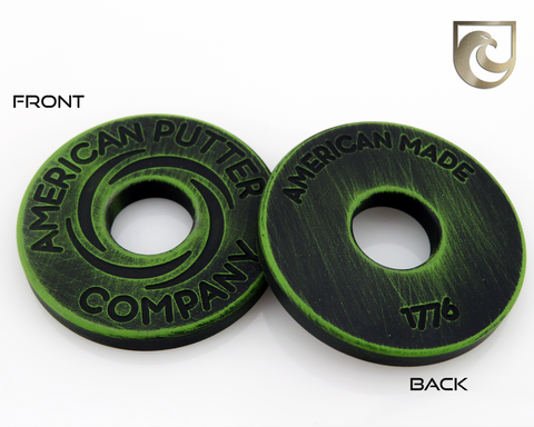 American Putter Company Battle Worn Green & Black Halo Vortex Ball Marker Stainless!
