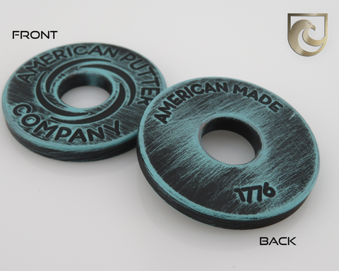 American Putter Company Battle Worn Robin's Egg Blue & Black Halo Vortex Ball Marker Stainless!