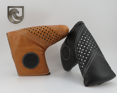 American Putter Company Leather Chevron: Rustic Brown Leather or Black Leather