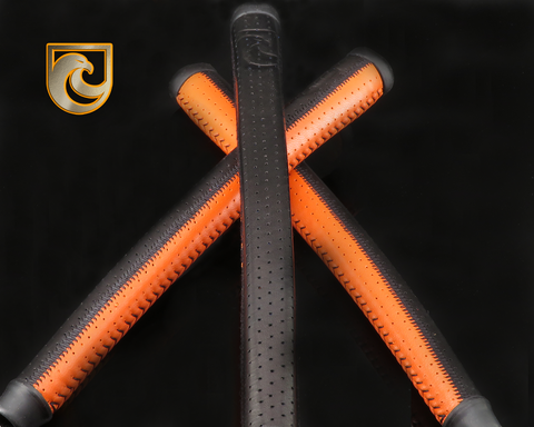 American Putter Company Black & Orange Patchwork Signature Series Leather APC Grip