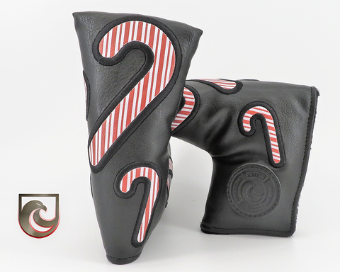 American Putter Company Red & White Stripe Candy Cane Winter Golf Headcover! Limited