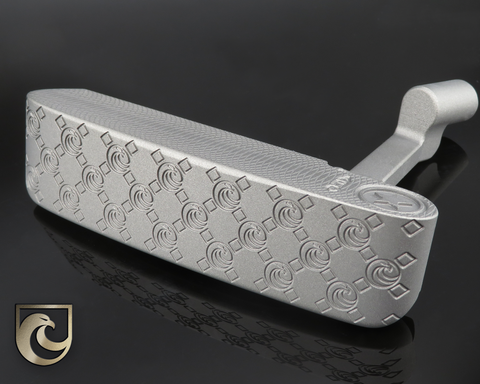 American Putter Company Oak Dale in Charcoal Ice Finish with Weld Neck: Stainless Steel
