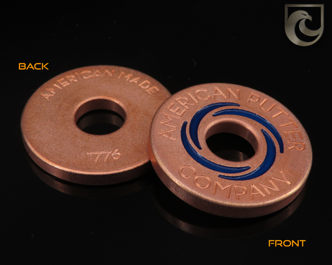 (CUSTOM PAINT COLORS) American Putter Company Halo Vortex Ballmarker Copper! Hand Painted