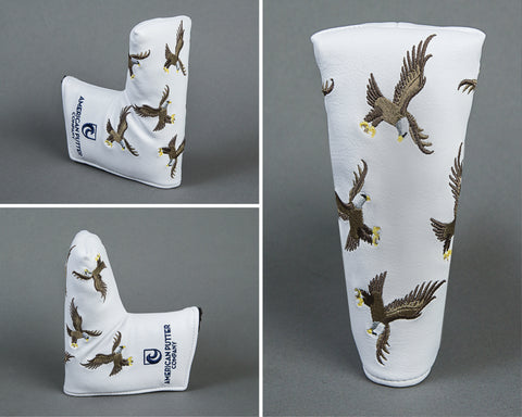 American Putter Company Dancing Eagles Headcover!  WHITE!