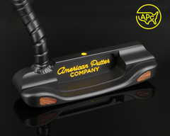 American Putter Company Carbon Oak Dale in Super Black Finish with Weld Spiral Flow Neck