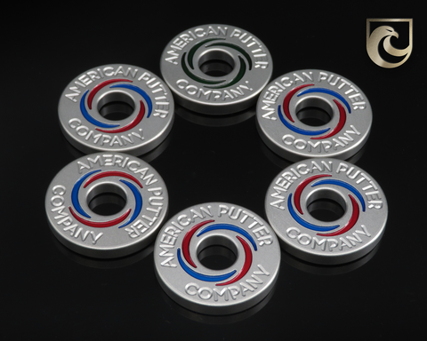 ( PICK CUSTOM COLOR ) American Putter Company Halo Vortex Ball Marker Stainless! Hand Painted!