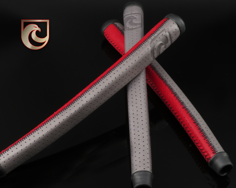 American Putter Company Grey & Red Patchwork Signature Series Leather APC Grip