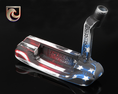 American Putter Company Left Hand Carbon Oak Dale in Stars & Stripes Finish with Weld Neck
