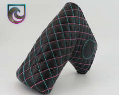 American Putter Company Savannah Headcover : Black Leather with Miami Vice Style Diamond Stitch