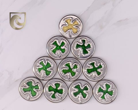 American Putter Company Four Leaf Clover Welded Limited Release: Hand Painted & Cosmic Back
