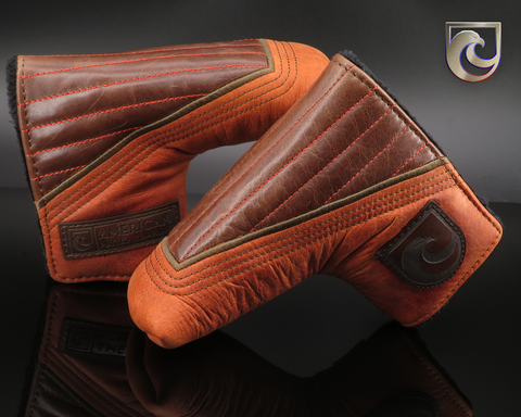American Putter Company Dayton Navigator Headcover: Leather Brompton Java with Marmalade Leather