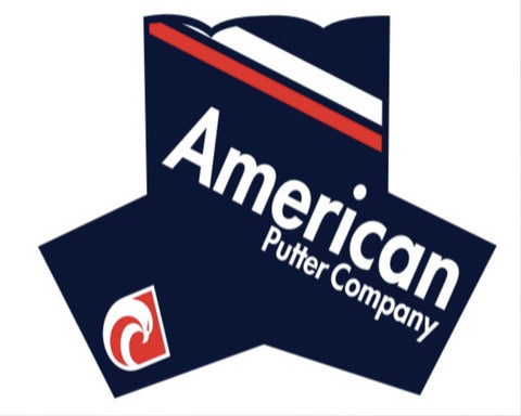 American Putter Company Royal Headcover : RED and WHITE on NAVY!