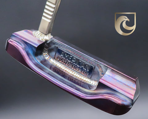 American Putter Company Oak Dale Right Hand Diamond Blue & Plasma Purple Carbon Putter with Weld Neck