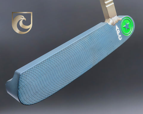 American Putter Company Oak Dale Right Hand Light Diamond Blue Carbon Putter with Weld Neck