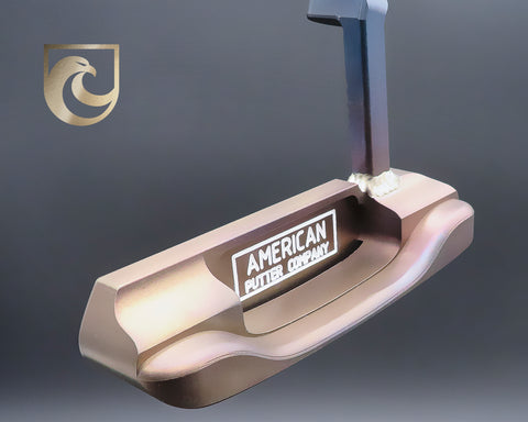 American Putter Company Oak Dale Left Hand Carbon Putter with Weld Neck