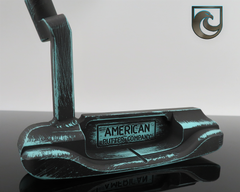 American Putter Company Carbon Oak Dale in Robins Egg & Black Battle Worn Finish with Weld Neck