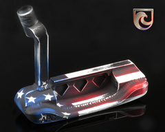 American Putter Company Stainless & Carbon Oak Dale in Stars & Stripes Finish with Weld Neck