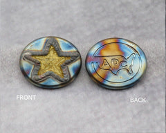 ( PICK CUSTOM COLOR) American Putter Company Welded STAR : Hand Painted & Cosmic Back