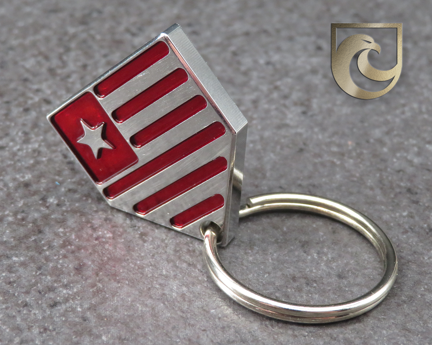 ( PICK CUSTOM COLOR ) American Putter Company Home Plate Ball Marker / Key Chain / Pull: Stainless Steel Red or Blue or Custom