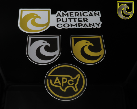 American Putter Company Over Engineered Stickers!
