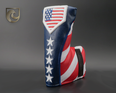 American Putter Company & The Baseball Club Stars & USA 3D Home Plate Baseball Stitch Headcover