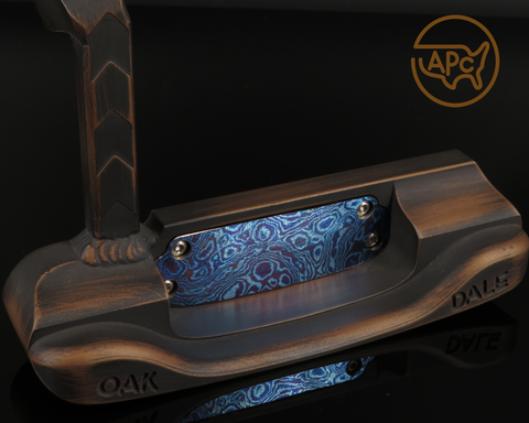 American Putter Company Carbon Oak Dale in Dark Bronze Finish with Weld Neck