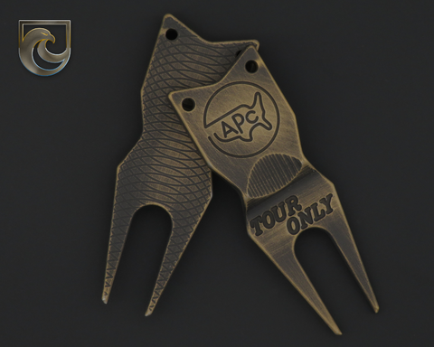 "American Putter Company Battle Worn Bronze & Black Divot Tool 1.0 Stainless (""Tour Only"")"