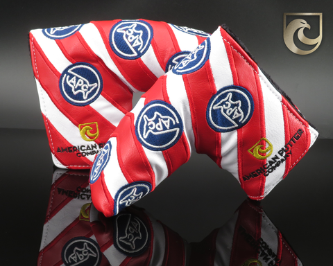American Putter Company Bold Stripe Headcover : Red White & Blue