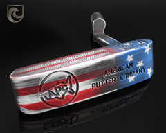 American Putter Company Stainless Steel Oak Dale in Stars & Stripes Finish with Weld Neck