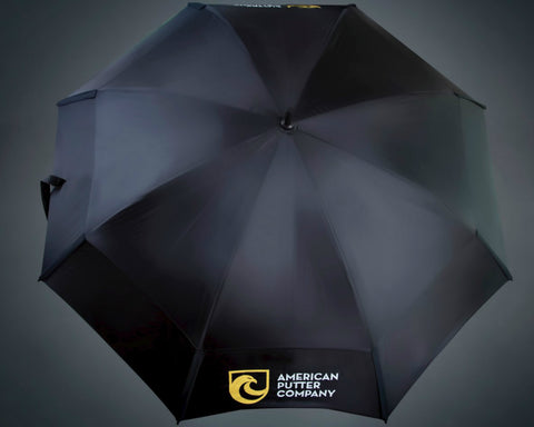 American Putter Company Black with Logo's Gustbuster Umbrella