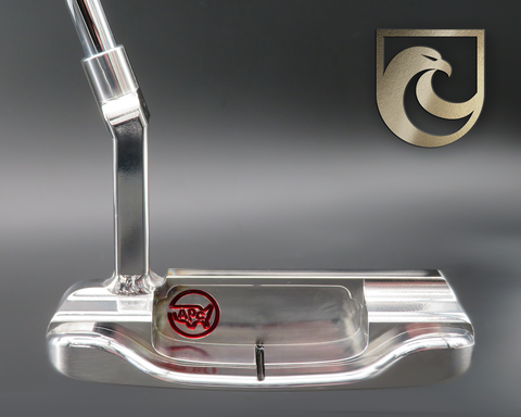 American Putter Company Oak Dale Right Hand Stainless Silver Putter with Weld Neck (COA 342)