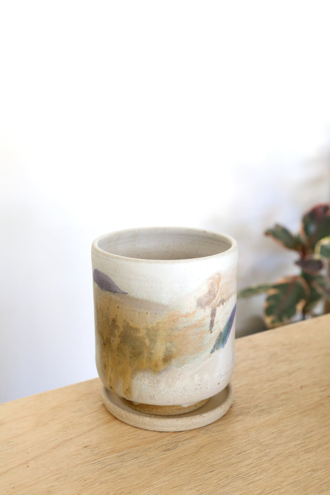 Emi Ceramics Planter - Mottled Glaze
