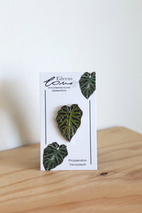 Eileen's Love 'Philodendron Verrucosum' Lapel Pin