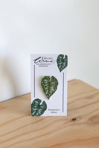 Eileen's Love 'Philodendron Mamei' Lapel Pin
