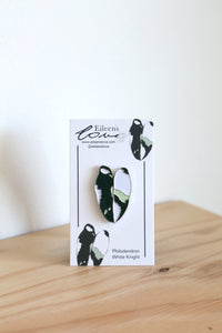 Eileen's Love 'Philodendron White Knight' Lapel Pin