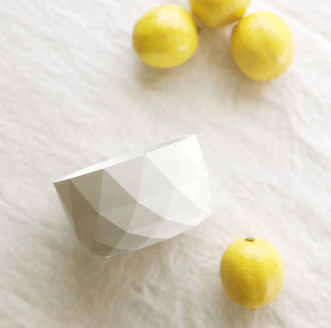 Geometric Concrete Bowl