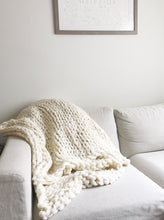 Chunky Hand Knit Throw Blanket
