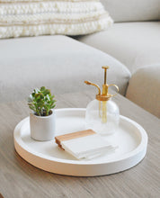 Large Circle Cement Decor Tray