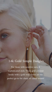 14K Gold Filled Cement Dangle Earrings
