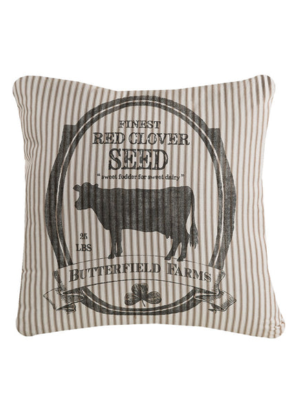 "Farmhouse Butterfield Farms Pillow 22"" x 22"""