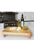 Farmhouse Wood Footed Serving Board