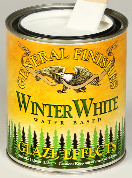 Winter White Glaze Effects