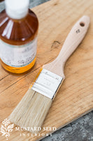 Miss Mustard Seed's 1.5 Natural Bristle Brush Product Shot with Hemp Oil