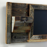 Message Center with Chalkboard and Mail Organizer