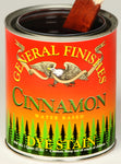 Product shot of General Finishes Cinnamon Dye Stain in open pint can.