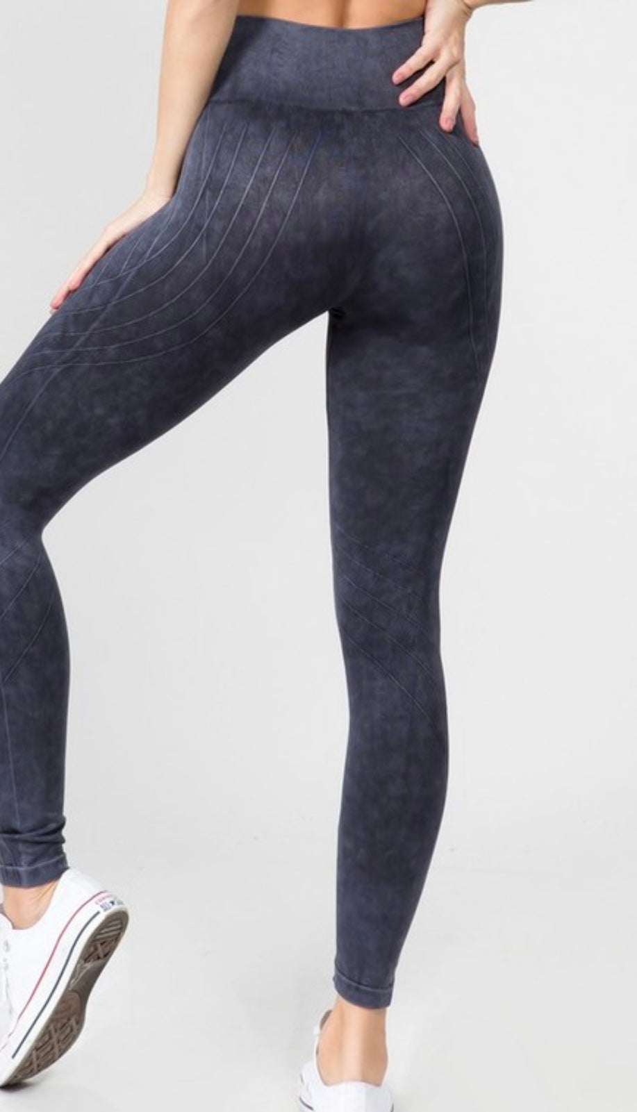 Vintage Texture Leggings (stone wash black)